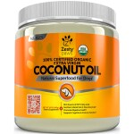 Zesty Paws: 100% Certified Organic Extra Virgin Coconut Oil for Dogs (16 oz Solid Oil)