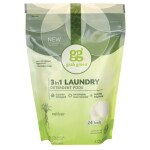 GrabGreen: 3-in-1 Laundry Detergent Pods - Vetiver (24 Ct)