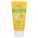 Babo Botanicals: Clear Zinc Sunscreen SPF 30 - Fragrance Free (3 fl oz Lotion)