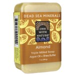 One With Nature: Dead Sea Minerals Triple Milled Bar Soap - Almond (7 oz Bar(s))