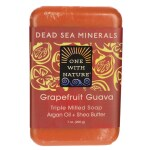 One With Nature: Dead Sea Minerals Triple Milled Bar Soap - Grapefruit Guava (7 oz Bar(s))