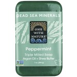One With Nature: Dead Sea Minerals Triple Milled Bar Soap - Peppermint (7 oz Bar(s))
