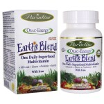 Paradise Herbs: Earth's Blend One Daily Superfood Multivitamin with Iron (60 Veg Caps)