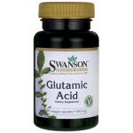 Swanson Health Products: Glutamic Acid (500 mg 60 Veg Caps)