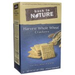 Back To Nature: Harvest Whole Wheat Crackers (8.5 oz Box)