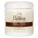 Rainbow Research: Henna Hair Color and Conditioner - Medium Brown (Chestnut) (4 oz Jar)