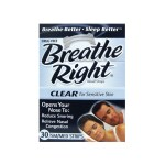 Breathe Right: Nasal Strips Clear - SM/MED (30 Ct)