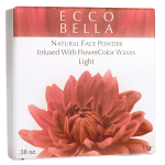 Ecco Bella: Natural Face Powder Infused with FlowerColor Waxes - Light (0.38 oz Unit)