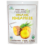 Nature's All Foods: Organic Freeze Dried Pineapples (1.5 oz Pkg)