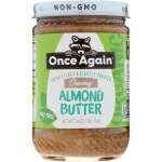 Once Again: Organic Lightly Toasted Creamy Almond Butter (16 oz Jar)