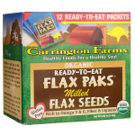 Carrington Farms: Organic Ready-To-Eat Flax Paks Milled Flax Seeds (12 Ct)