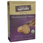 Back To Nature: Organic Stoneground Wheat Crackers (6 oz Box)