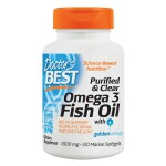 Doctor's Best: Purified & Clear Omega 3 Fish Oil (1,000 mg 120 Sgels)