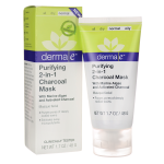 Derma E: Purifying 2-in-1 Charcoal Mask (1.7 oz Cream)