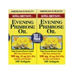 American Health: Royal Brittany Evening Primrose Oil - Twin Pack (500 mg 2 - 100 Sgels)