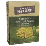 Back To Nature: Spinach & Roasted Garlic Crackers (6.5 oz Box)