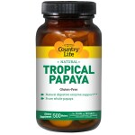 Country Life: Tropical Papaya Chewable (22 mg 500 Wafers)