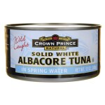 Crown Prince: Wild Caught Albacore Tuna Solid White in Spring Water (12 oz Can)