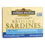 Crown Prince: Wild Caught Brisling Sardines in Spring Water (3.75 oz Can)