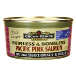 Crown Prince: Wild Caught Pacific Pink Salmon Skinless & Boneless (6 oz Can)