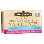 Crown Prince: Wild Caught Sardines Skinless & Boneless in Water (4.37 oz Can)